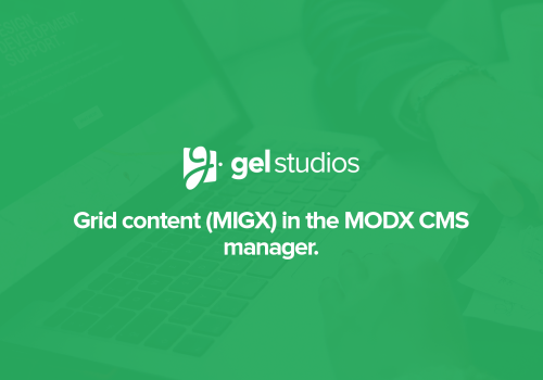 Grid content with MIGX in MODX.