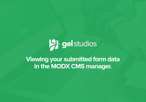 Viewing your submitted form data in MODX.