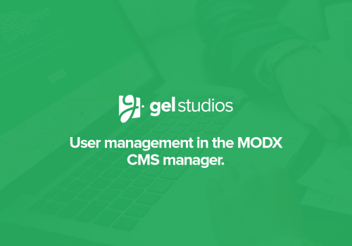 User management in MODX.