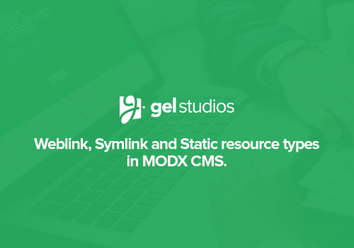 Weblink, symlink, and static resource types in MODX.
