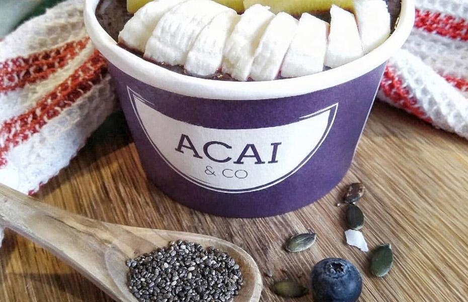 Acai and co logo on bowl