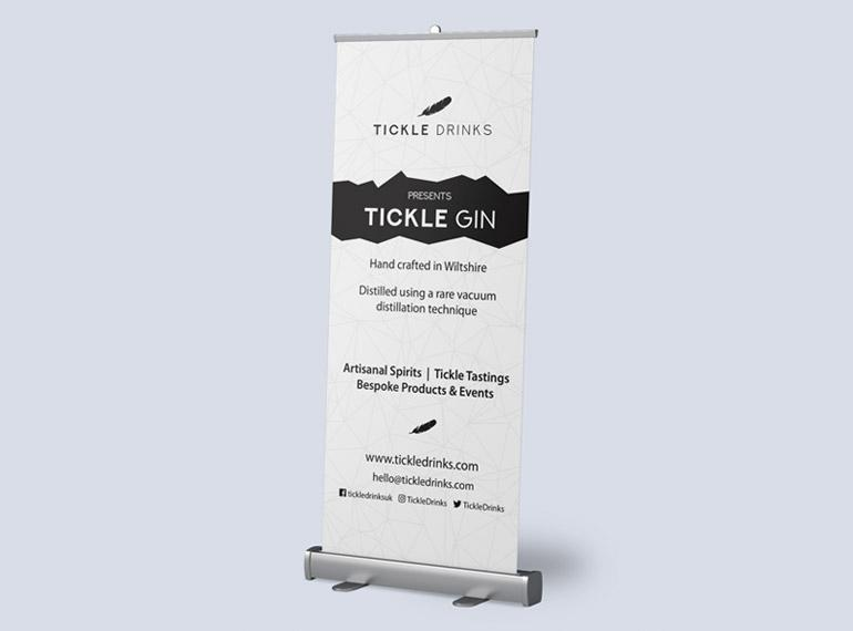 Tickle Drinks pull up banner